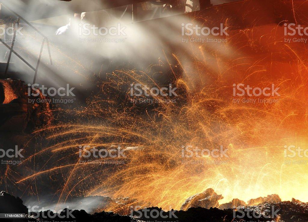 Sunlight and molten iron royalty-free stock photo