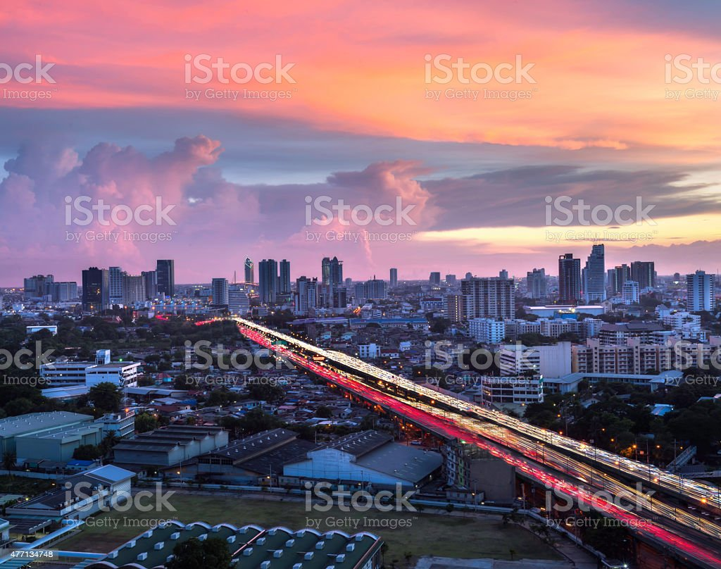 sunlight and road in capital cities stock photo