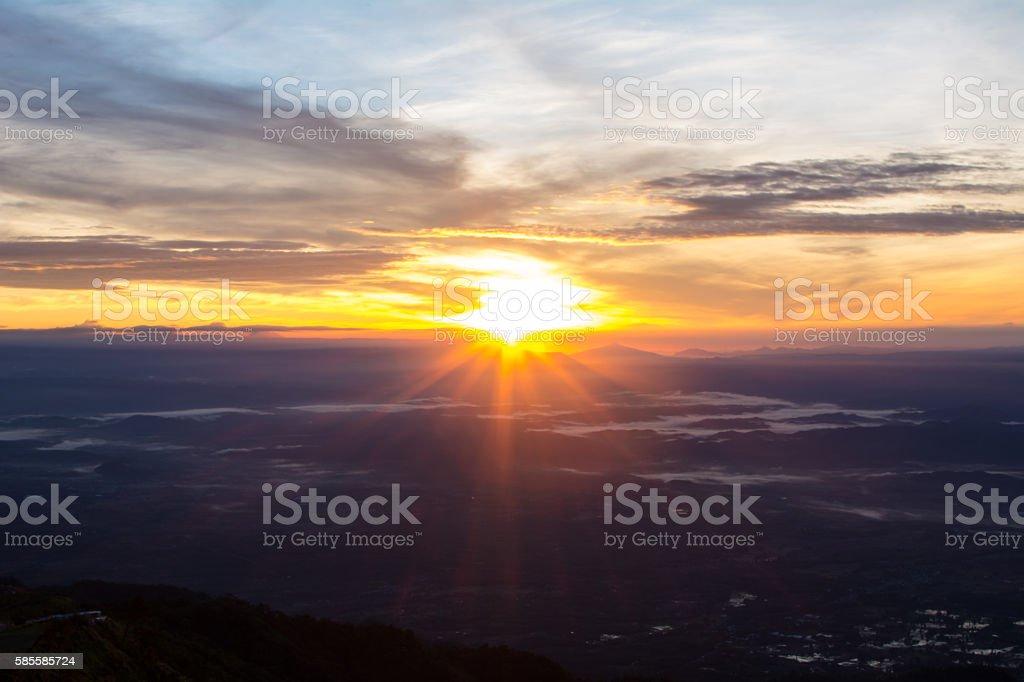 Sunlight and sky stock photo