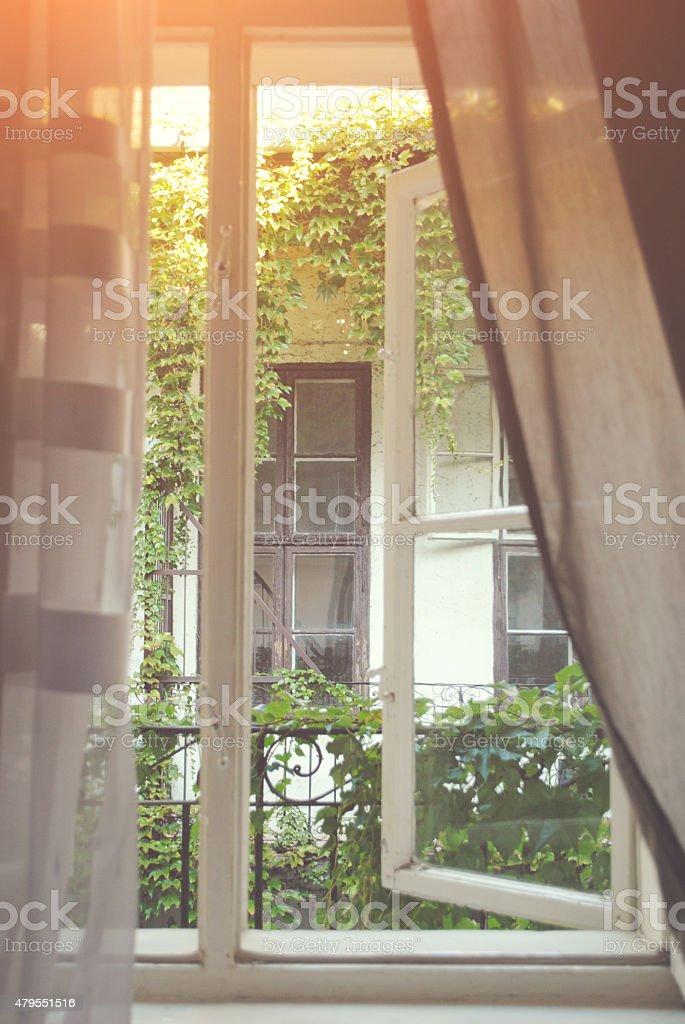 Sunlight coming through the window. stock photo
