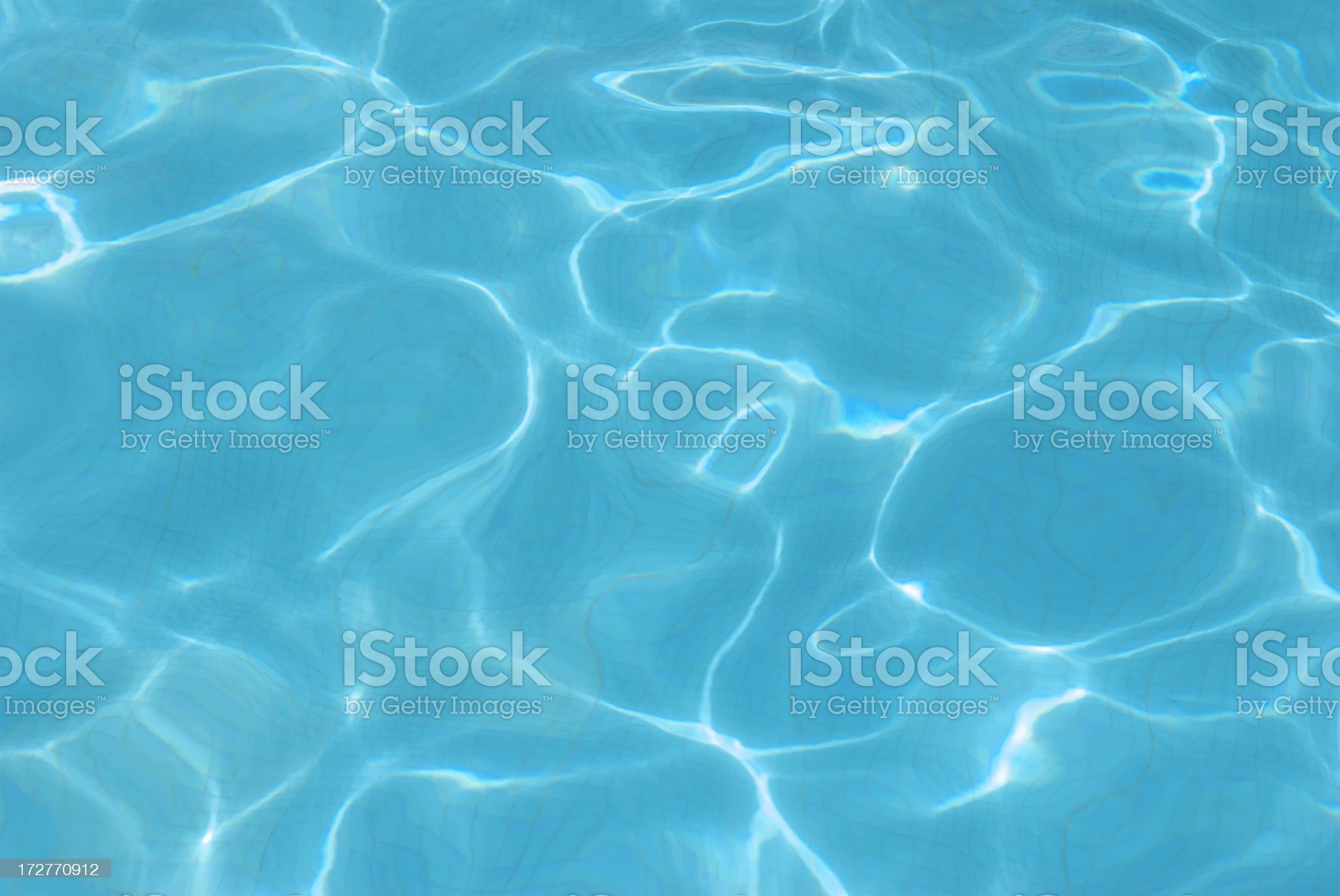 Sunlight Dapples in Blue Water royalty-free stock photo