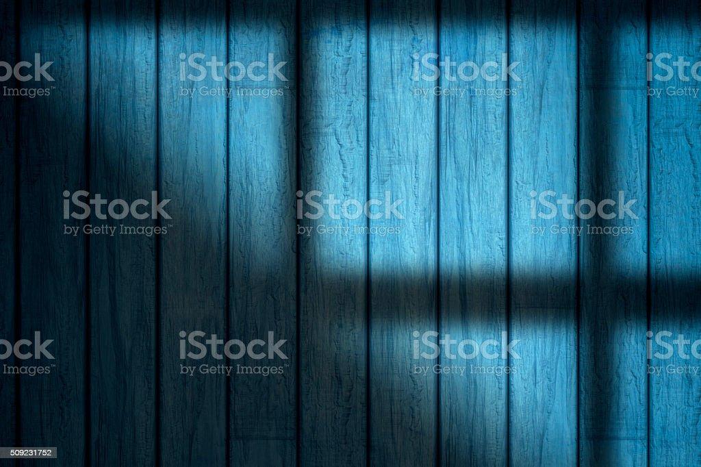 Sunlight Falling On wood panel stock photo