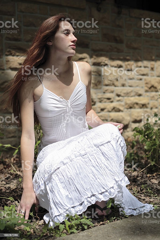 Sunlight in her hair royalty-free stock photo