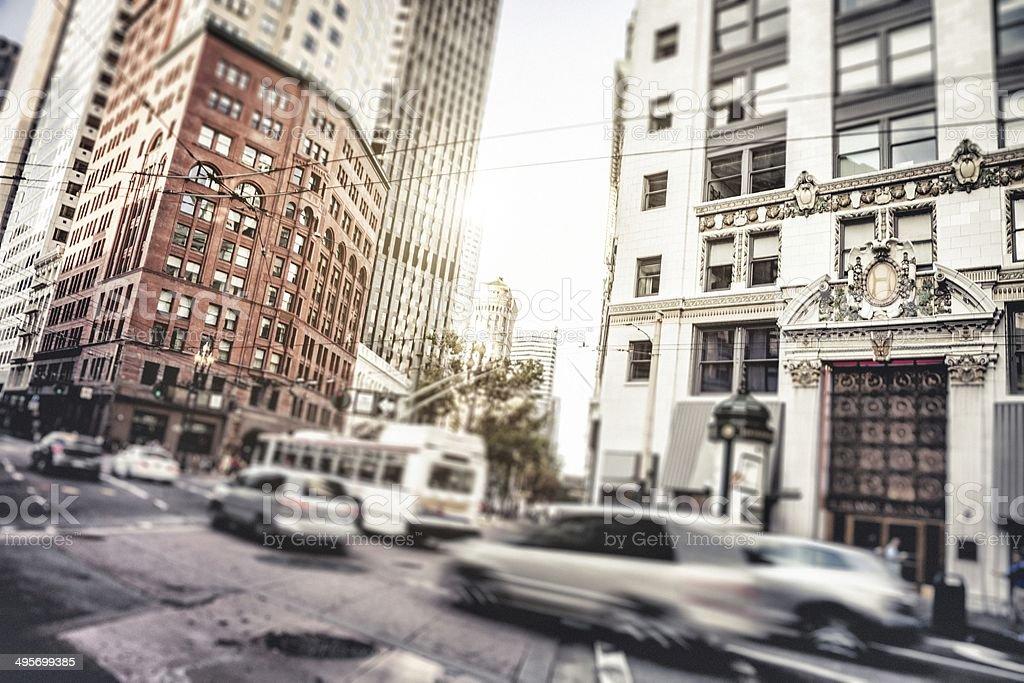 Sunlight in San Francisco downtown royalty-free stock photo