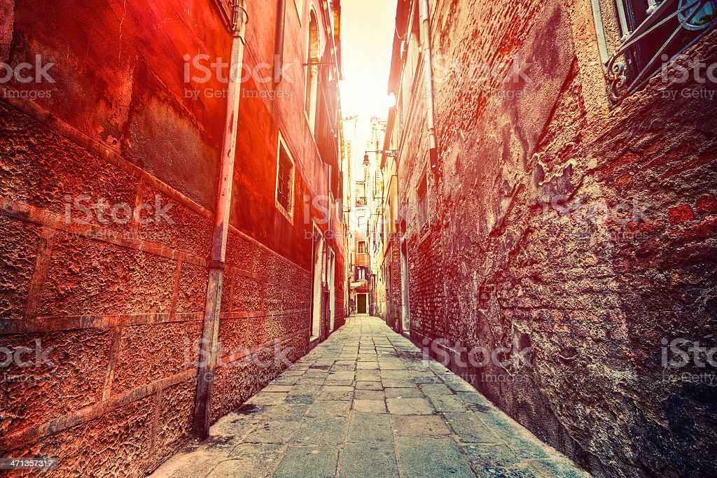 Sunlight in the Alley royalty-free stock photo