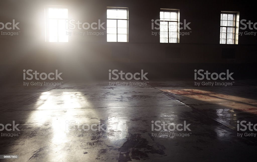 Sunlight in the darkness stock photo
