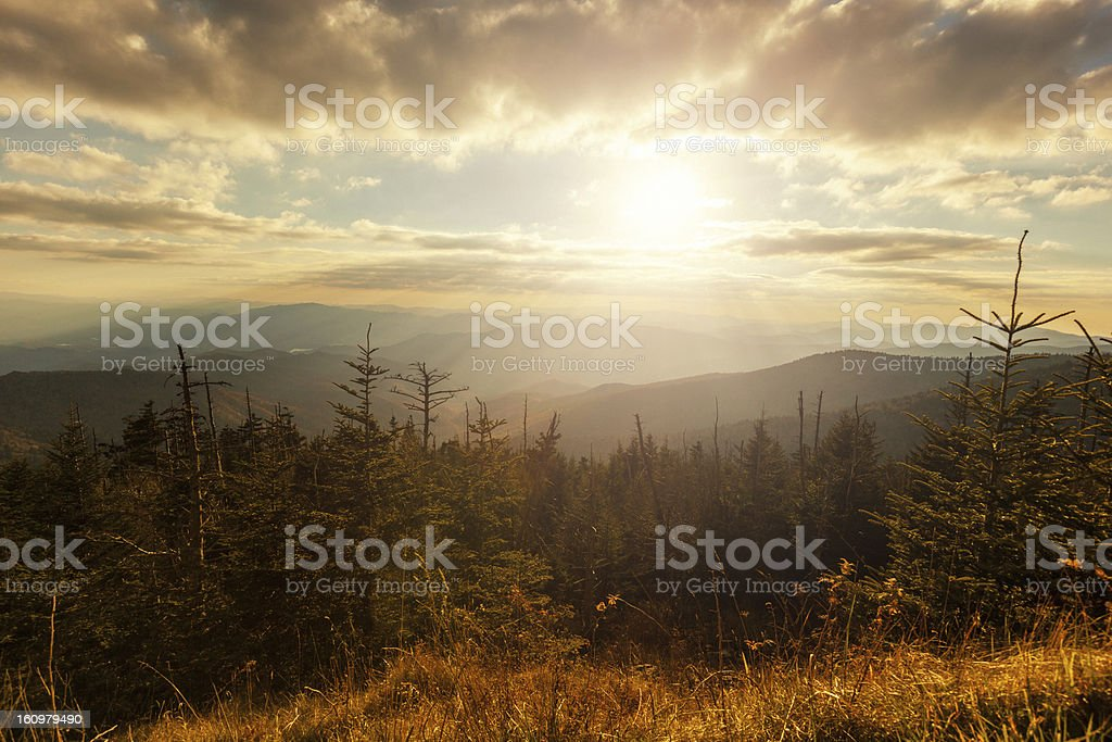 Sunlight in the Mountains royalty-free stock photo