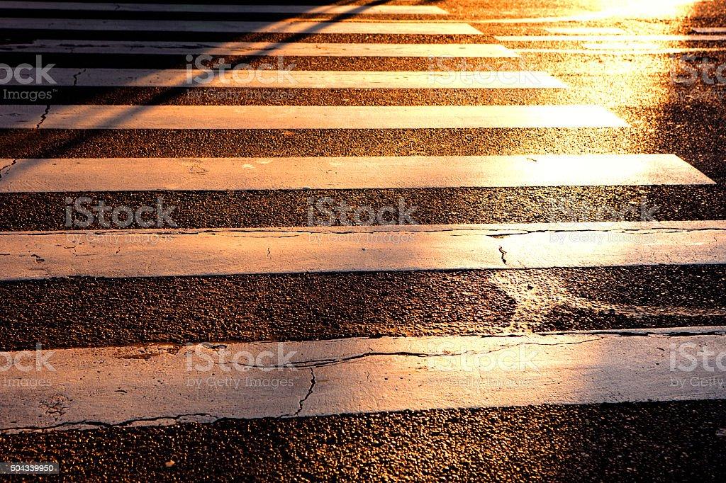 Sunlight in the street stock photo