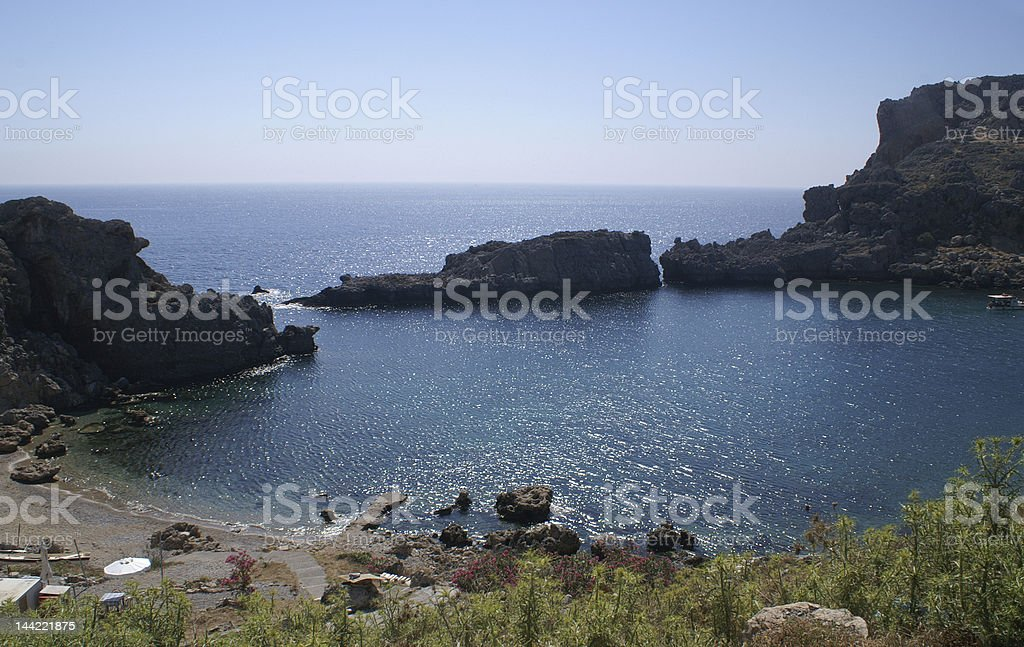 sunlight in the water royalty-free stock photo