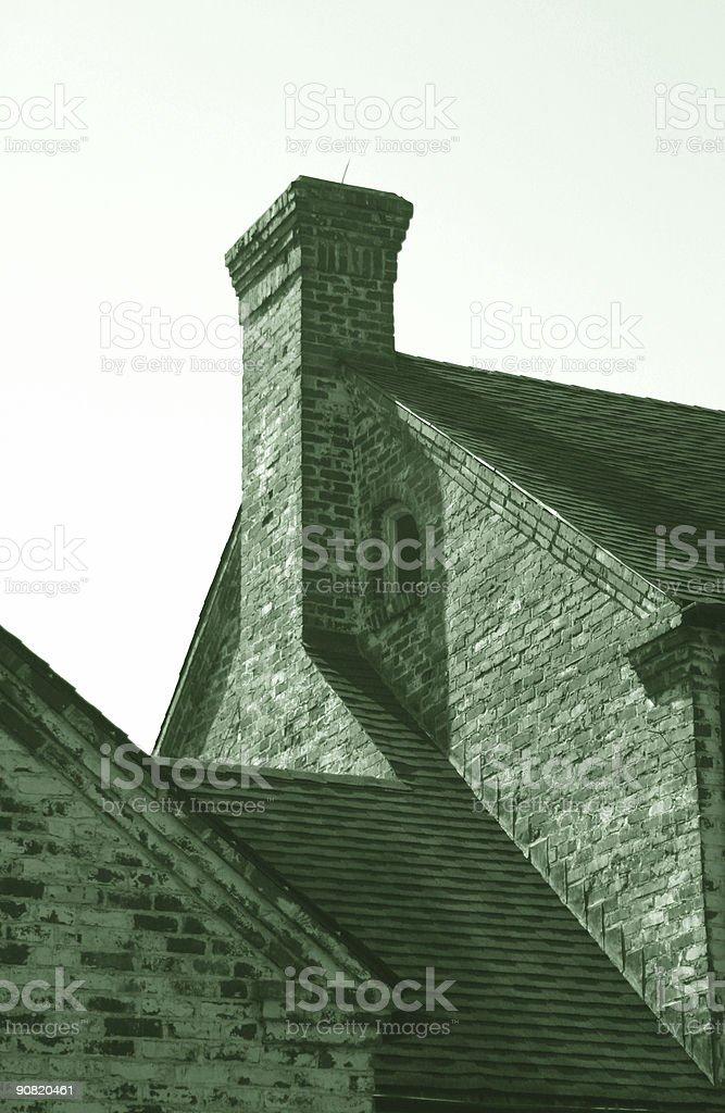 Sunlight on a Chimney stock photo