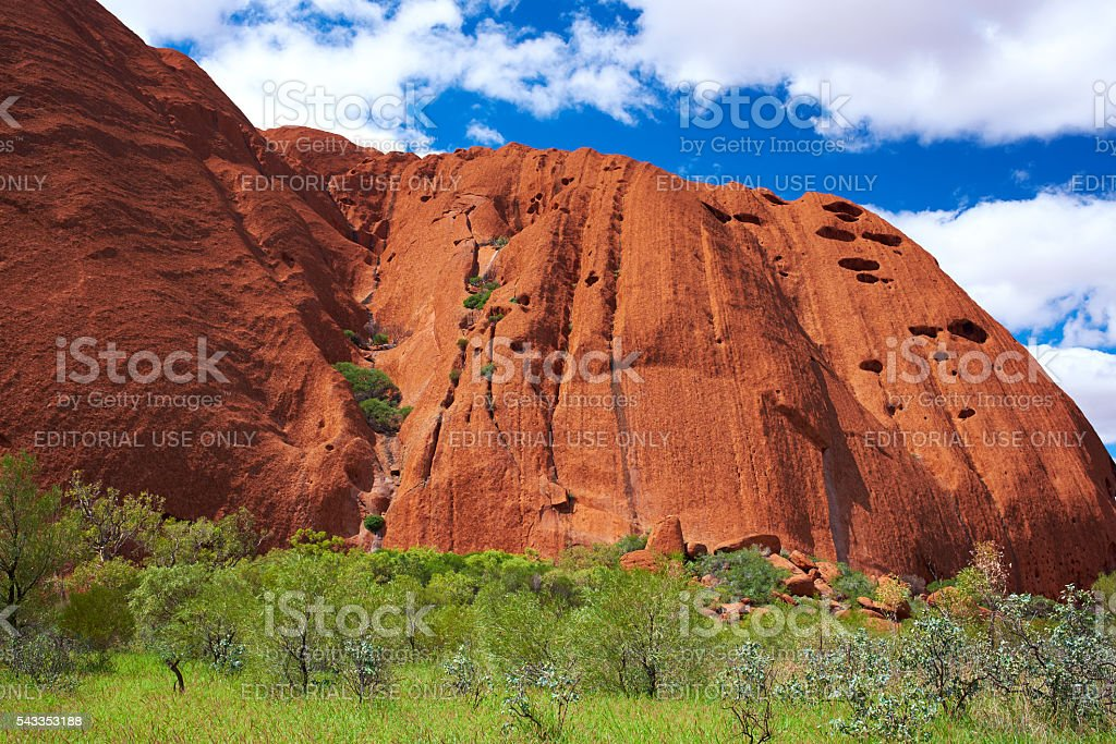 Sunlight On Uluru stock photo