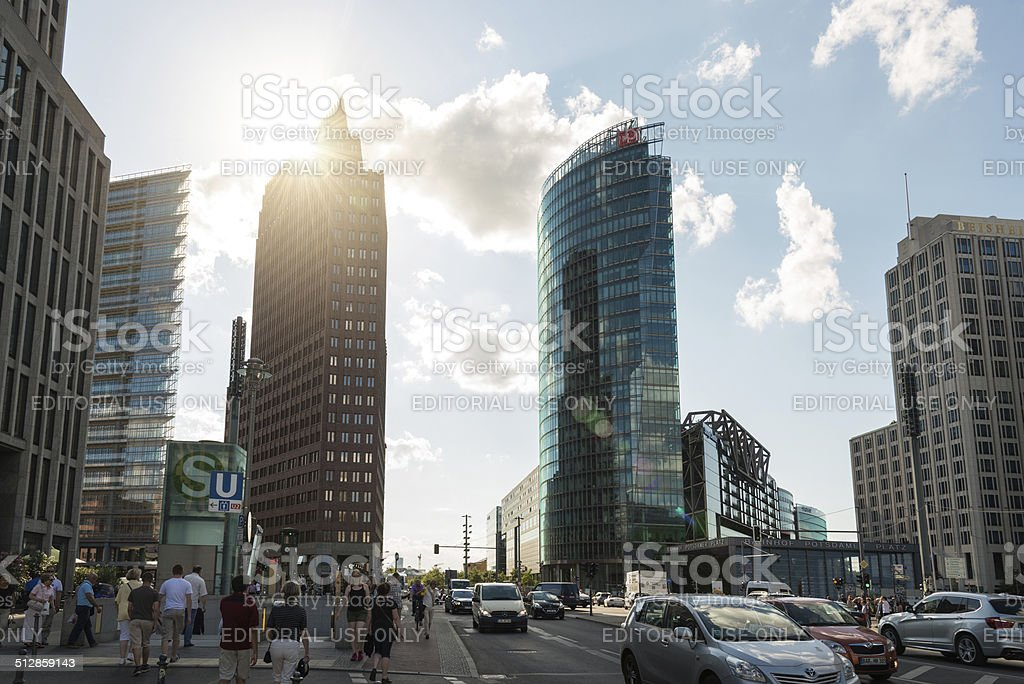 sunlight over Potsdamer Platz Berlin stock photo