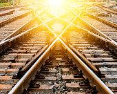 sunlight Railroad Track