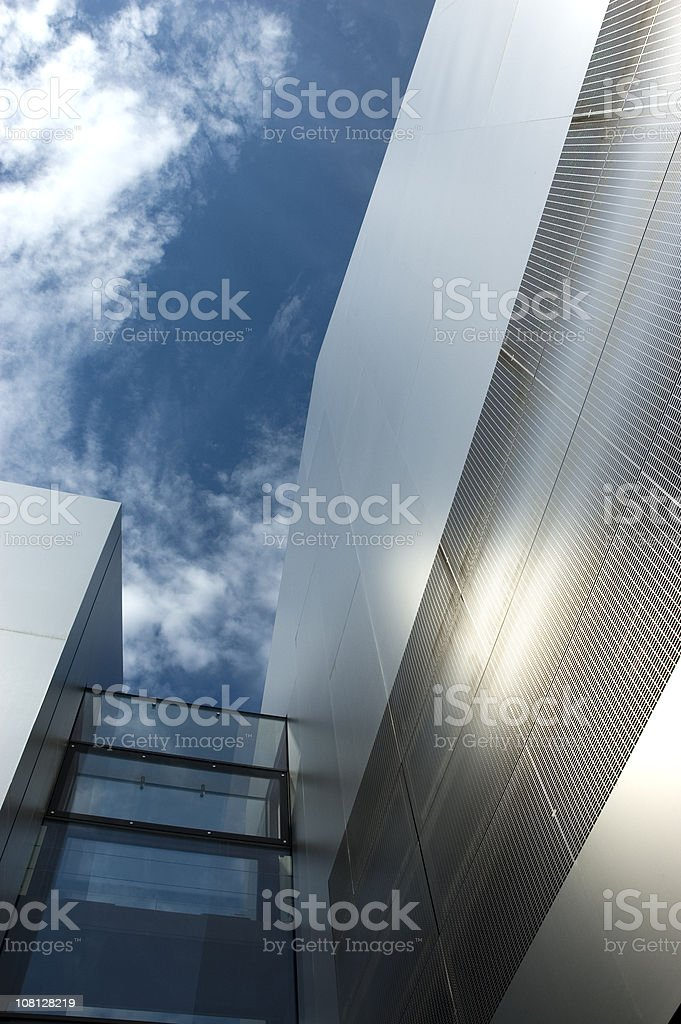 Sunlight Reflecting on Contemporary Aluminum Building royalty-free stock photo