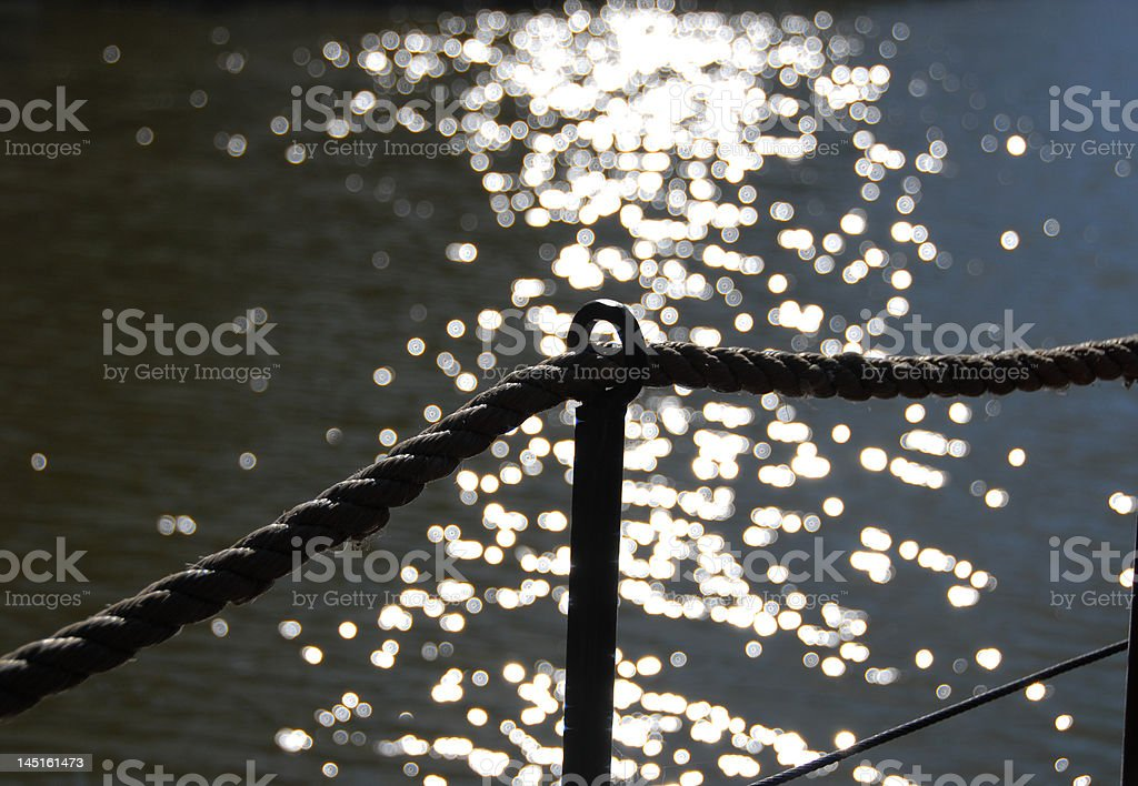 Sunlight reflections on the river royalty-free stock photo
