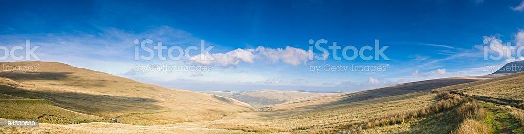 Sunlight, shadows, valley vista royalty-free stock photo