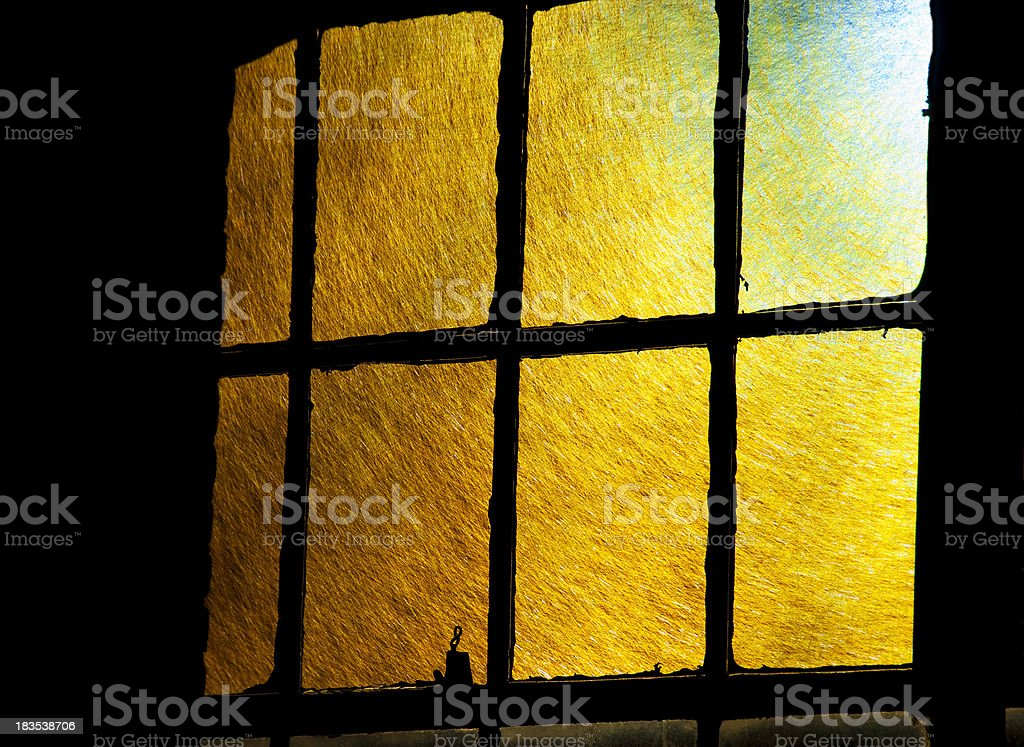 Sunlight Through an Old Window royalty-free stock photo