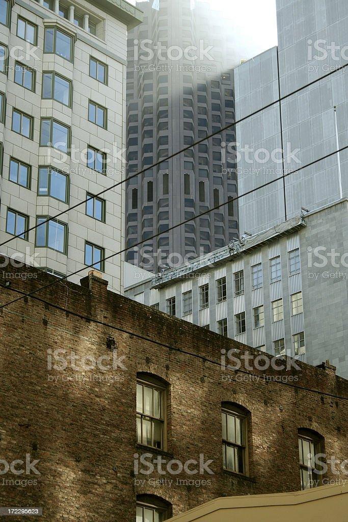 Sunlight Through City royalty-free stock photo