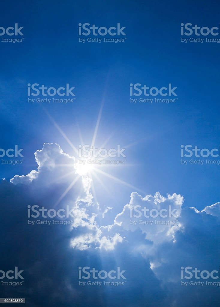 Sunlight through Clouds stock photo