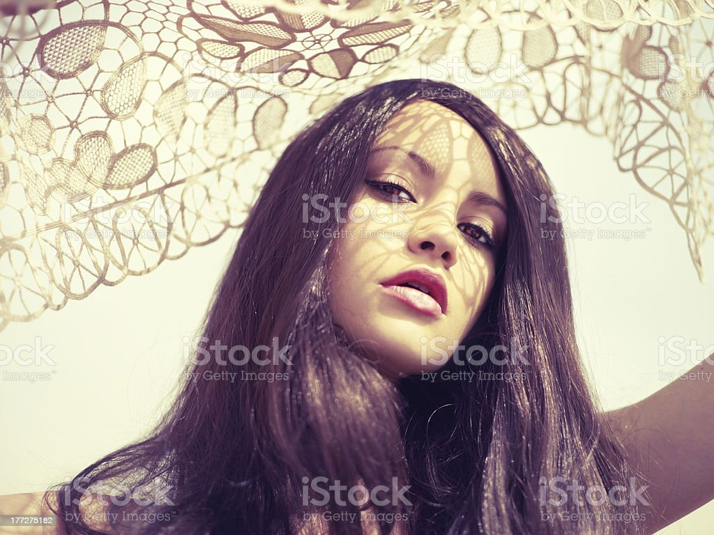 Sunlight through the lace royalty-free stock photo