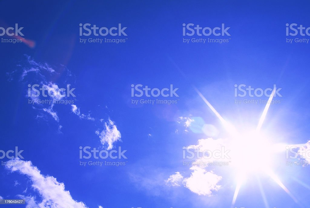 Sunlight with lens flare royalty-free stock photo