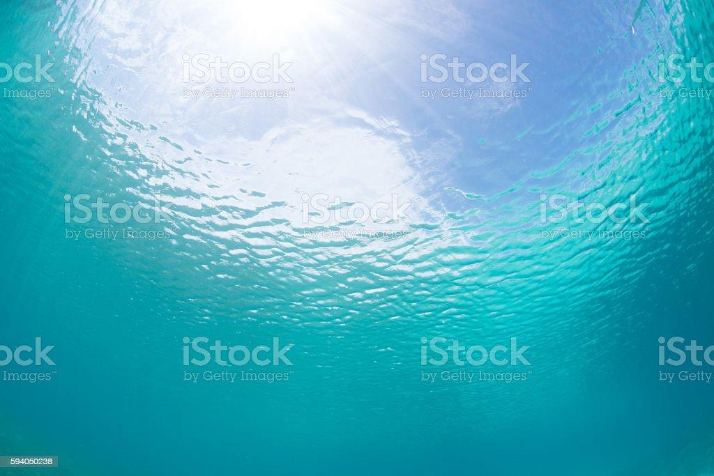 Sunlights of underwater foto de stock royalty-free