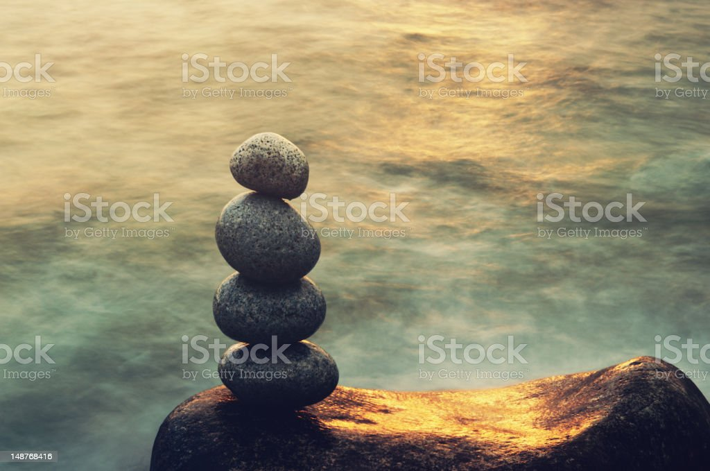 Sunlit Balance stock photo