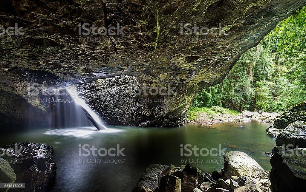 Sunlit Cave stock photo