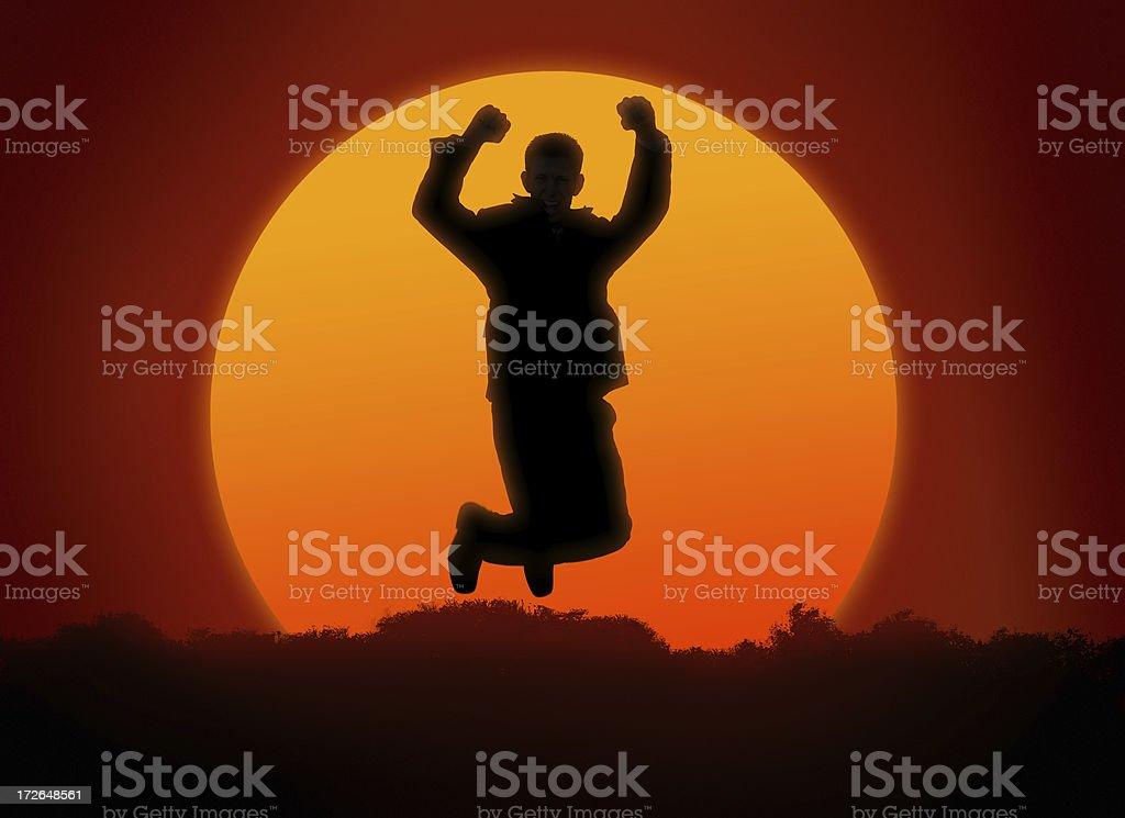 sunlit jump 1 royalty-free stock photo