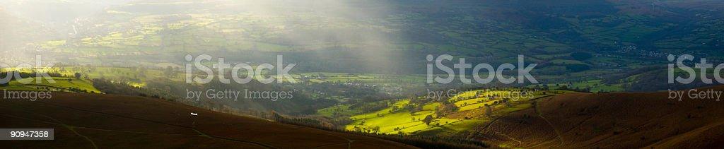 Sunlit landscape royalty-free stock photo