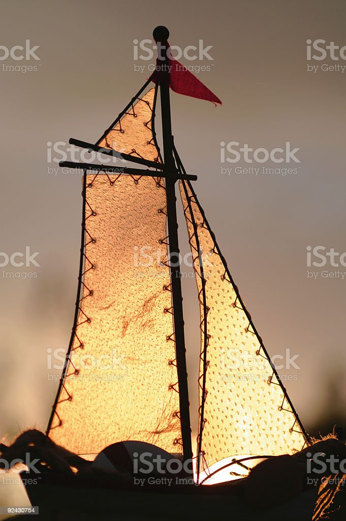 Sunlit sails royalty-free stock photo