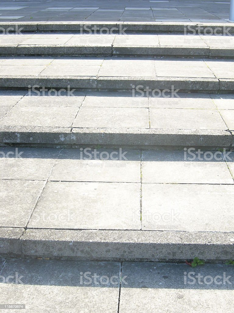 Sunlit Steps royalty-free stock photo
