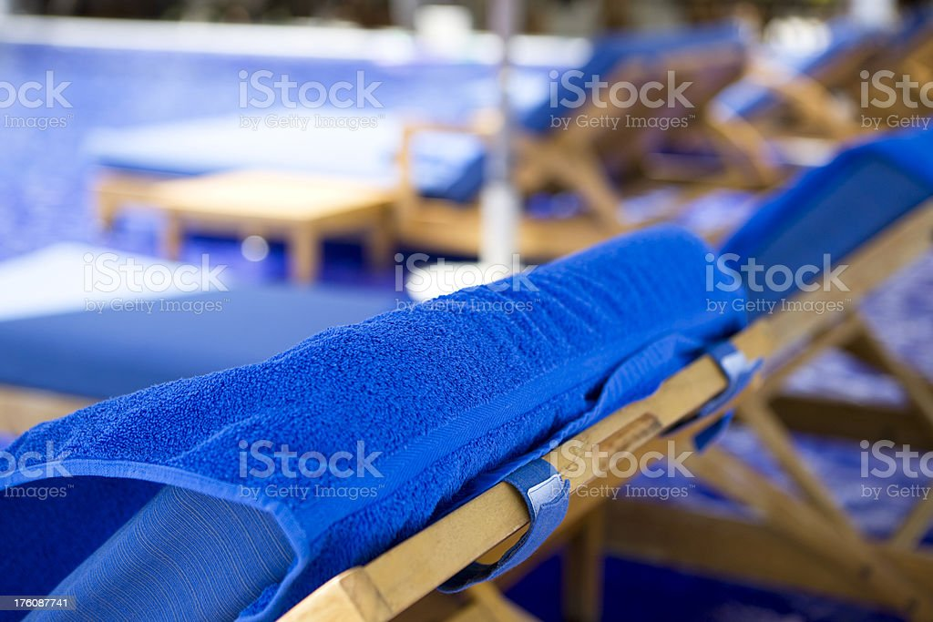 Sunlounger stock photo