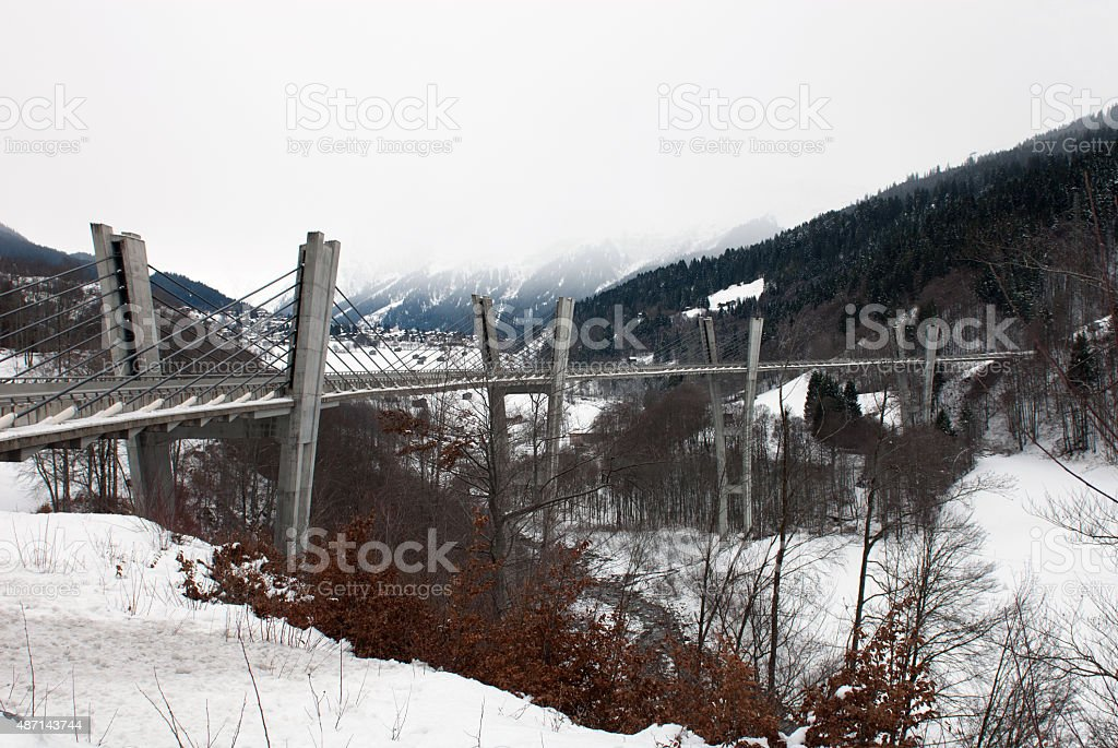 Sunniberg Bridge, Kosters-Serneus, Switzerland stock photo