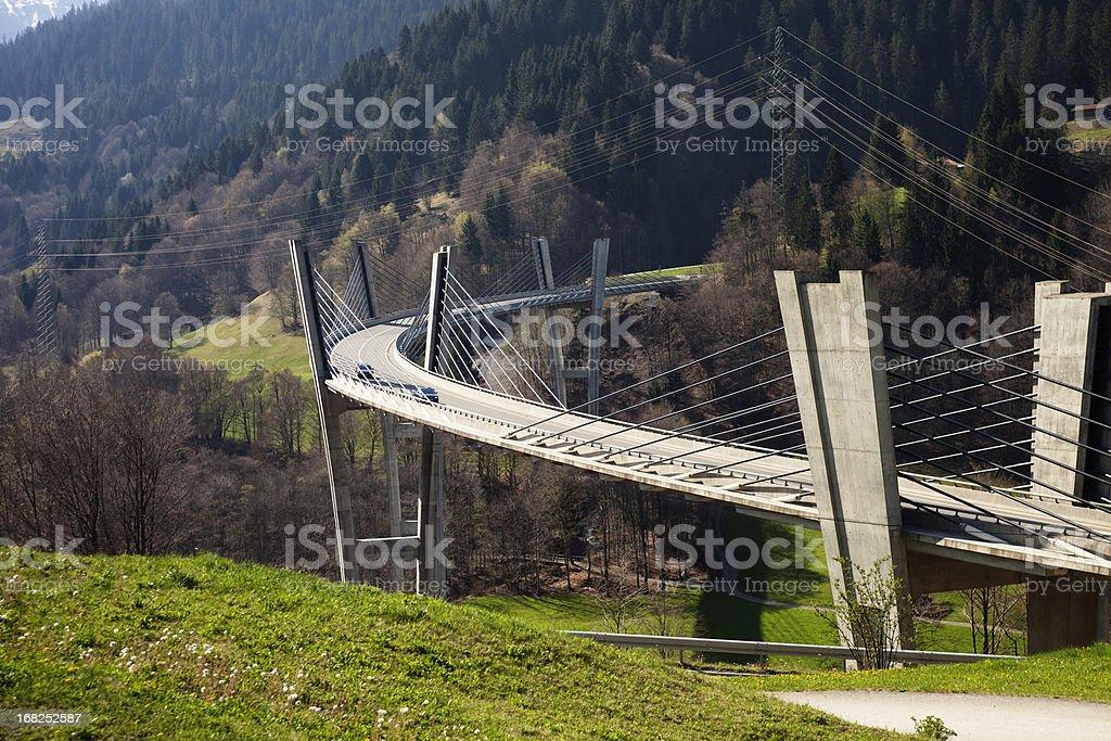 Sunnibergbruecke on the highway bypass to Klosters, Switzerland stock photo