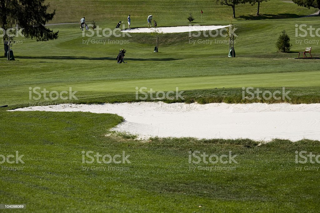 Sunny afternoon on the Golf Course royalty-free stock photo