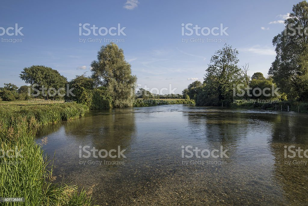 Sunny Afternoon on the River Test stock photo
