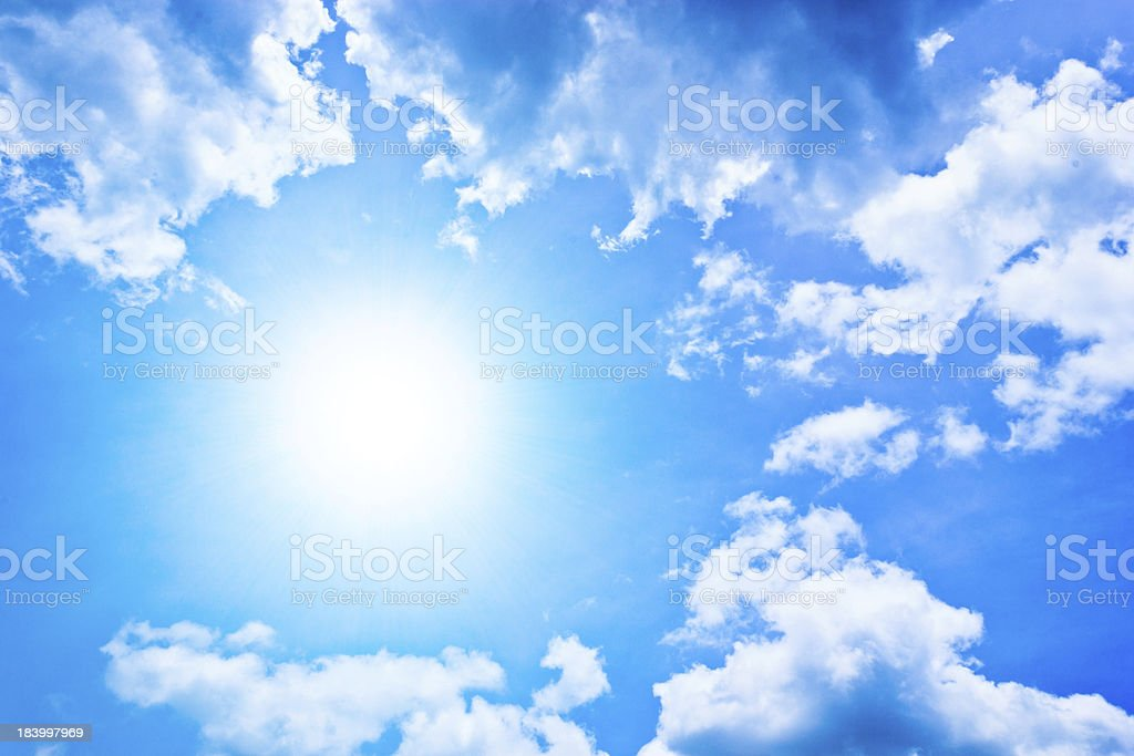 Sunny and Blue Sky royalty-free stock photo