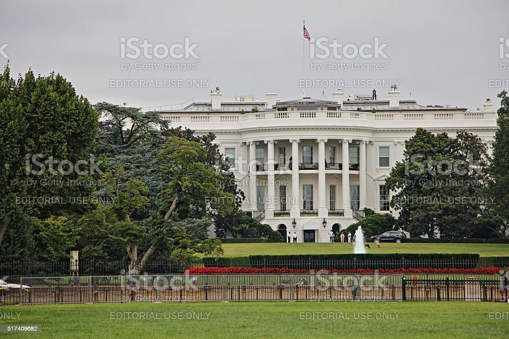Sunny Arrives At The White House stock photo