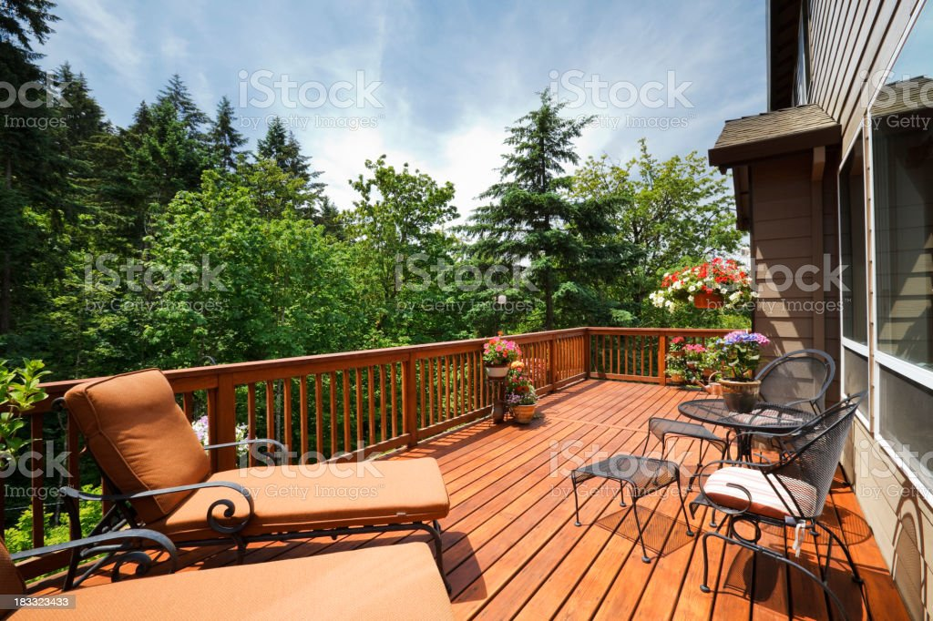 Sunny Back Deck royalty-free stock photo