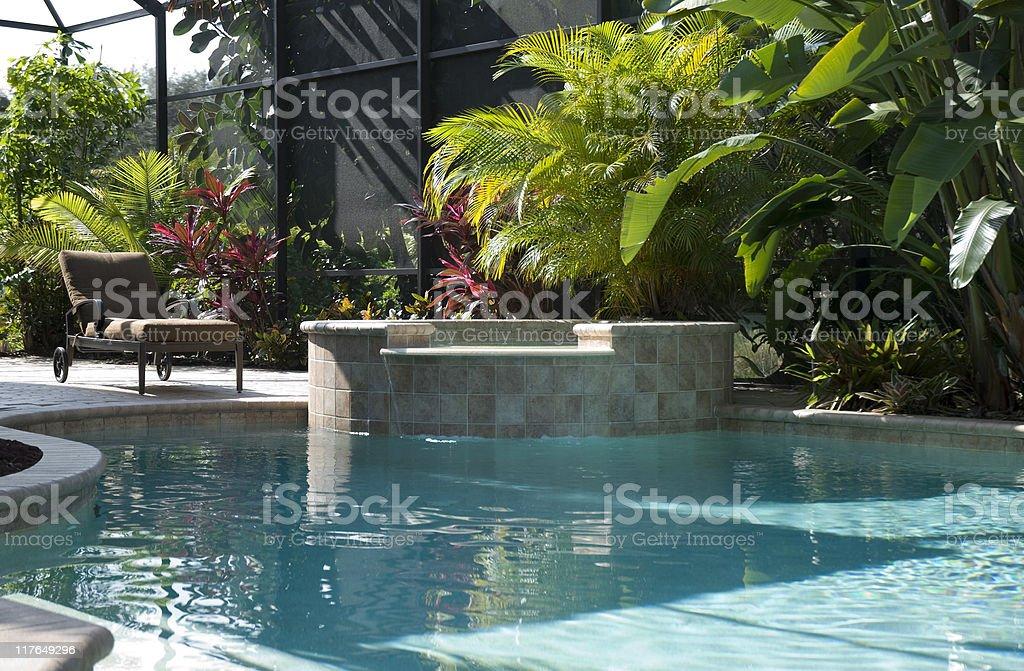 Sunny Backyard royalty-free stock photo
