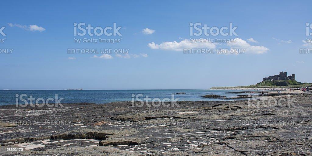 Sunny Bamburgh, Northumberland royalty-free stock photo