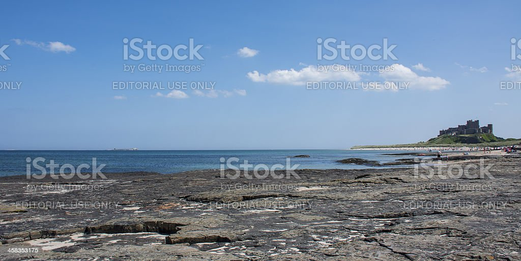 Sunny Bamburgh, Northumberland stock photo