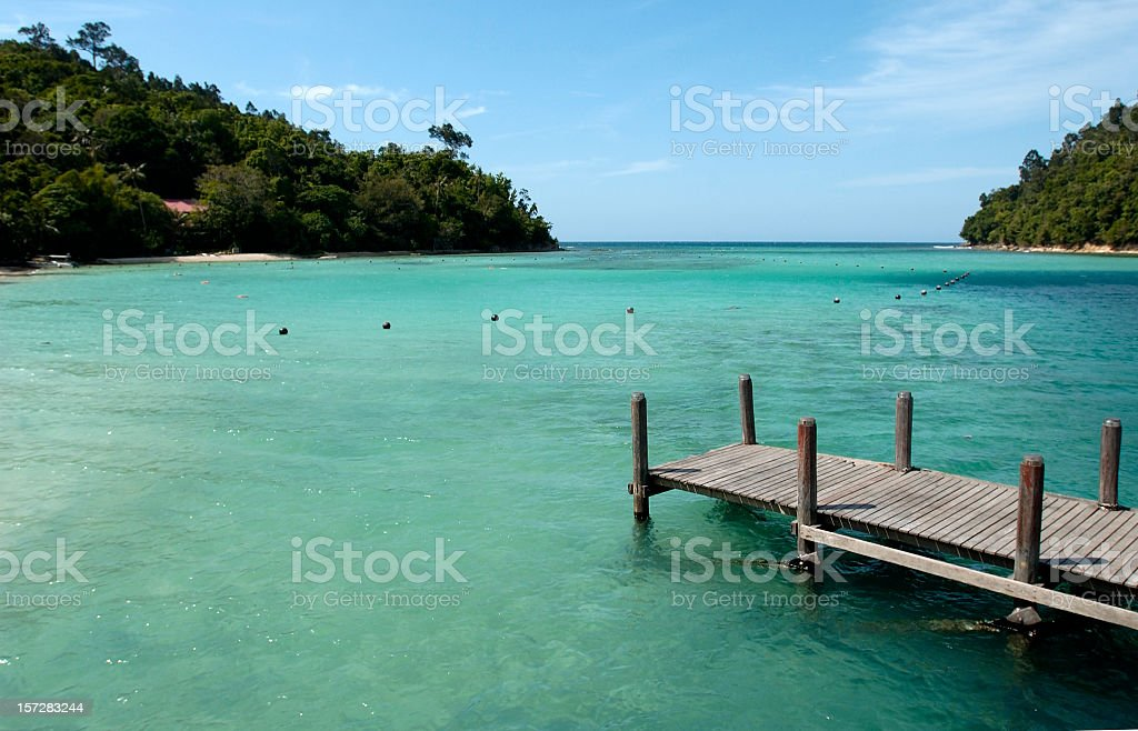 Sunny Beach Borneo Marine Park stock photo