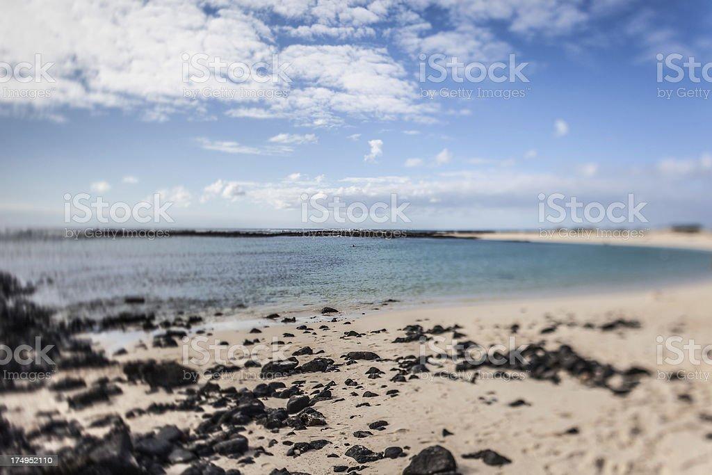 Sunny Beach Fuerteventura stock photo