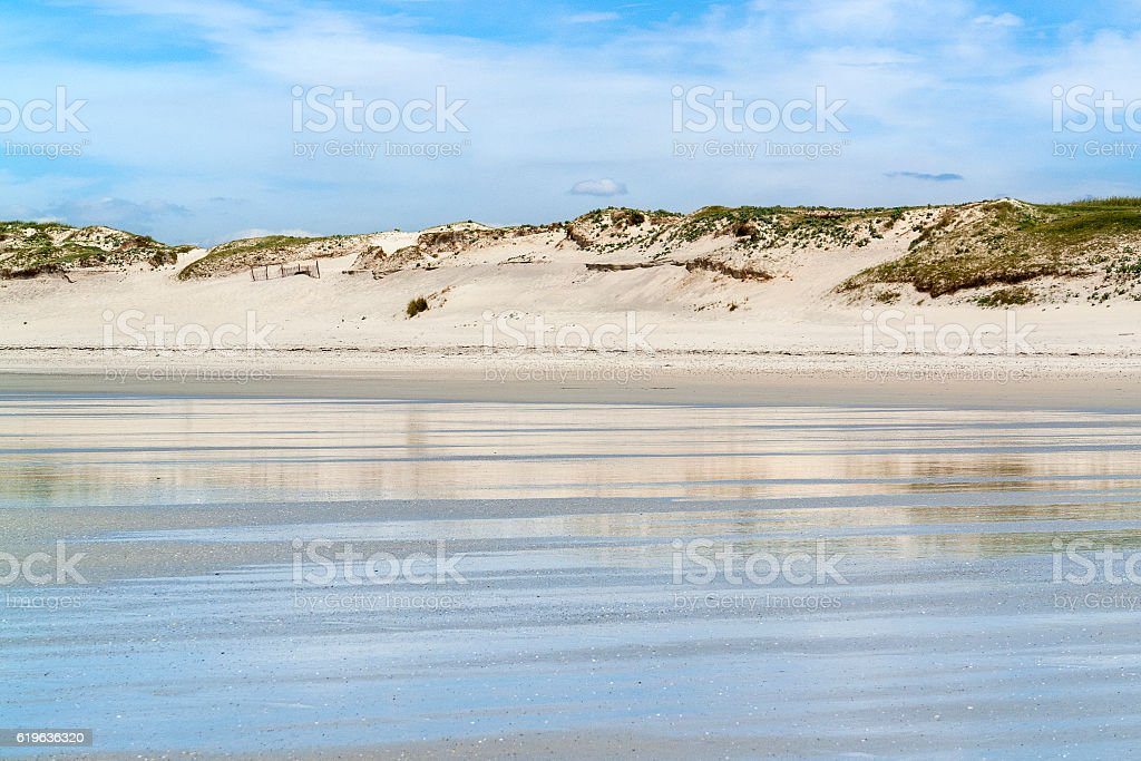 sunny beach in Brittany stock photo