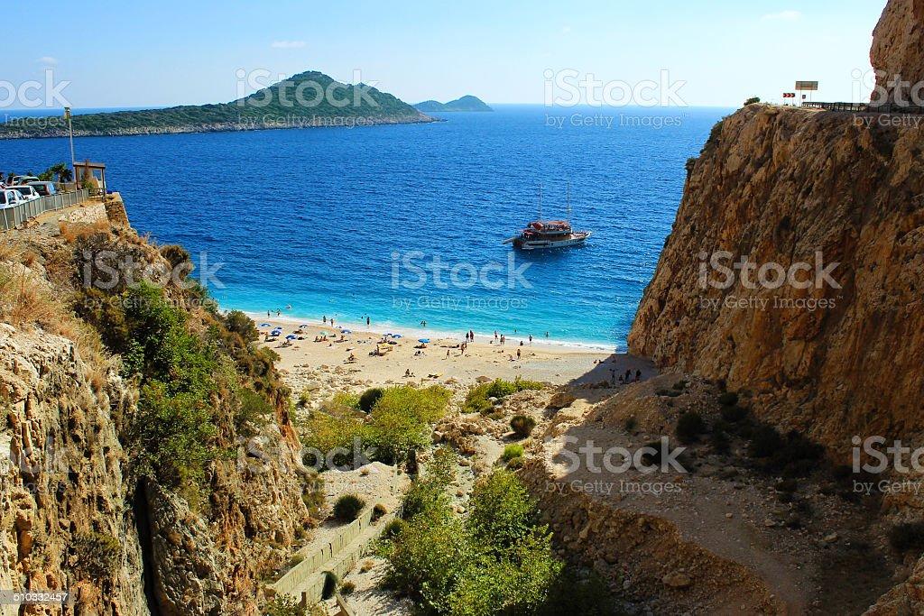 Солнечный пляж в Турции Стоковые фото Стоковая фотография