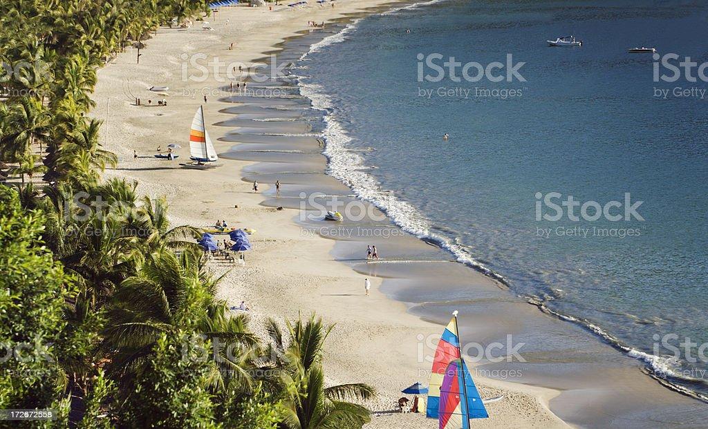 Sunny Beach of Playa la Ropa stock photo