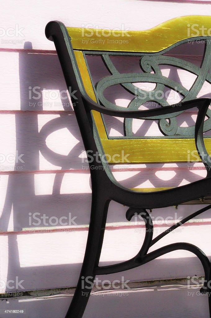 Sunny Bench royalty-free stock photo