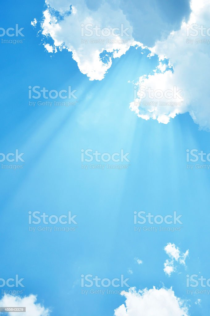 Sunny blue sky stock photo